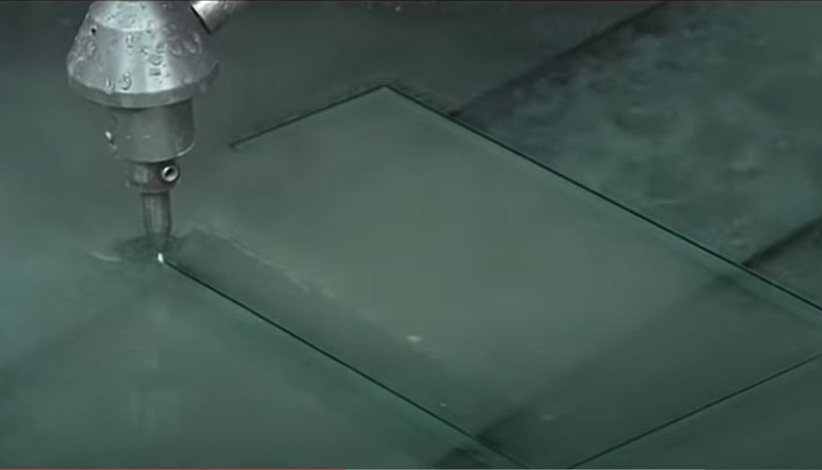 waterjet glass cutting